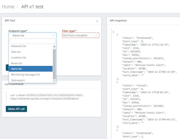 The Cloud API being put at work within a test page